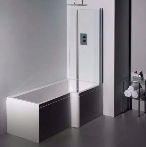 Carron Quantum 1600 x 850mm Shower Bath LH or RH - Panel & Strength Options